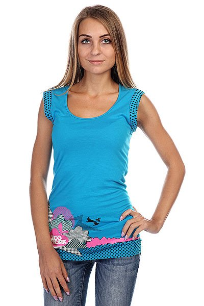 Блузка женская Zoo York Scenic Top Blue Jewel