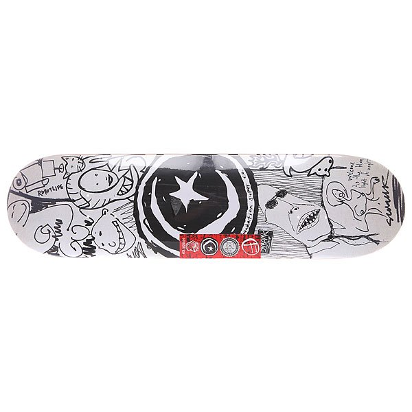 Дека для скейтборда для скейтборда Foundation S&amp;m Sketchbook Black/White 31.5 x 8.125 (20.6 см)Ширина деки: 8.125 (20.6 см)    Длина деки: 31.5 (80 см)    Количество слоев: 7<br><br>Цвет: белый,черный<br>Тип: Дека для скейтборда