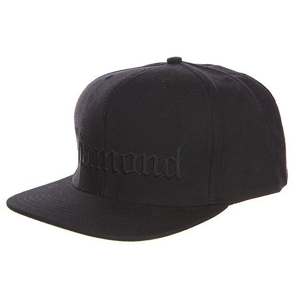 Бейсболка с прямым козырьком Diamond 4 Life Black<br><br>Цвет: черный<br>Тип: Бейсболка с прямым козырьком<br>Возраст: Взрослый<br>Пол: Мужской