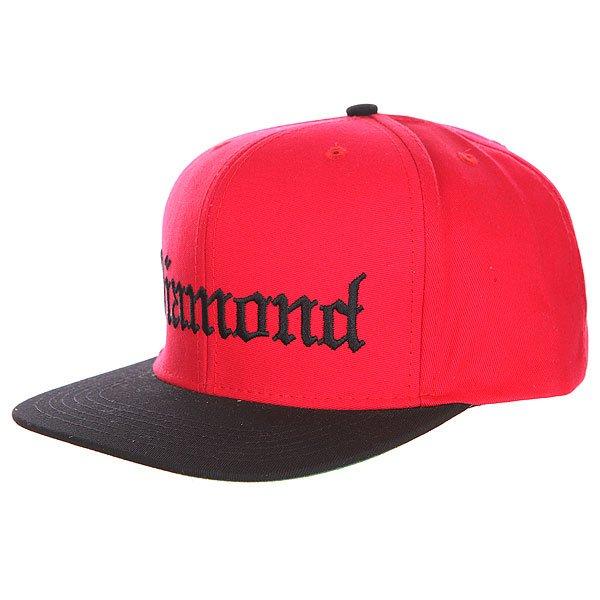 Бейсболка с прямым козырьком Diamond 4 Life Red/Black<br><br>Цвет: красный,черный<br>Тип: Бейсболка с прямым козырьком<br>Возраст: Взрослый<br>Пол: Мужской