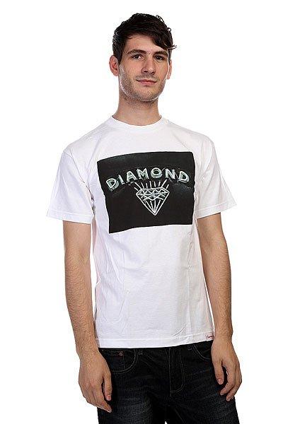 Футболка Diamond Jewlers Row White<br><br>Цвет: белый<br>Тип: Футболка<br>Возраст: Взрослый<br>Пол: Мужской