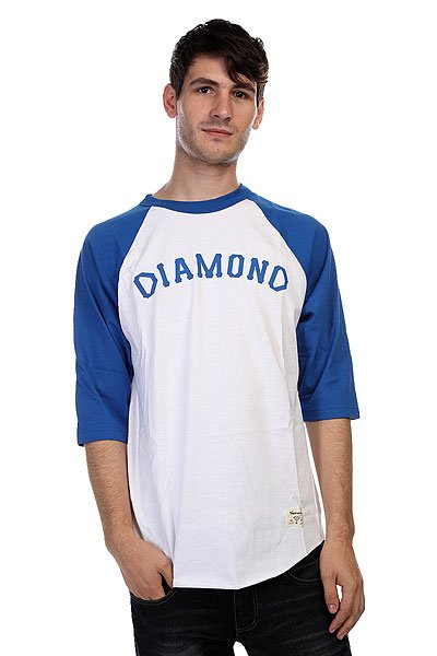 Лонгслив Diamond Dugout 98 Raglan White/Royal<br><br>Цвет: белый,синий<br>Тип: Лонгслив<br>Возраст: Взрослый<br>Пол: Мужской