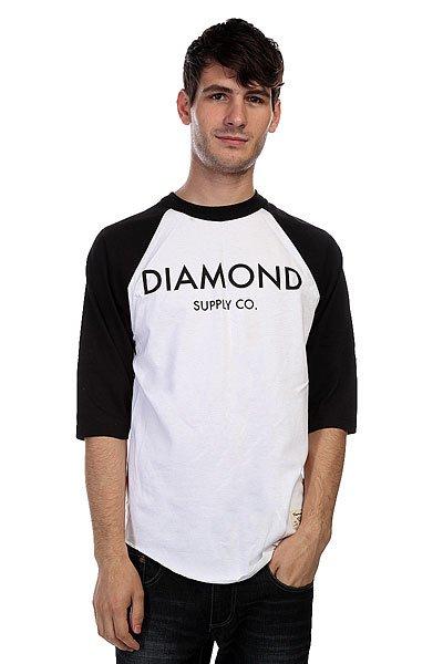 Лонгслив Diamond Classic Raglan White/BlackУличный хит в стиле Baseball. Легкая футболка в непринужденном дизайне для дополнительного комфорта.Технические характеристики: Мягкий хлопок премиум качества.Рукава-реглан 3/4.Контрастные воротник и рукава.Фигурный подол.Крупный графический принт на груди с логотипом Diamond.<br><br>Цвет: белый,черный<br>Тип: Лонгслив<br>Возраст: Взрослый<br>Пол: Мужской