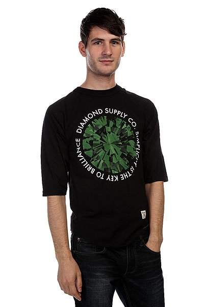 Лонгслив Diamond Simplicity Raglan Black/Green