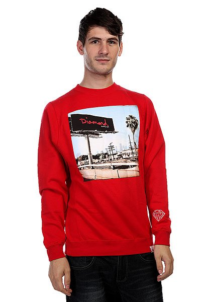 Толстовка Diamond Billboard Crewneck Red