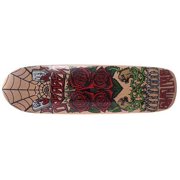 Дека для скейтборда для лонгборда Santa Cruz Dressen Roses 2 Multi 31.9 x 8.75 (22.2 см)