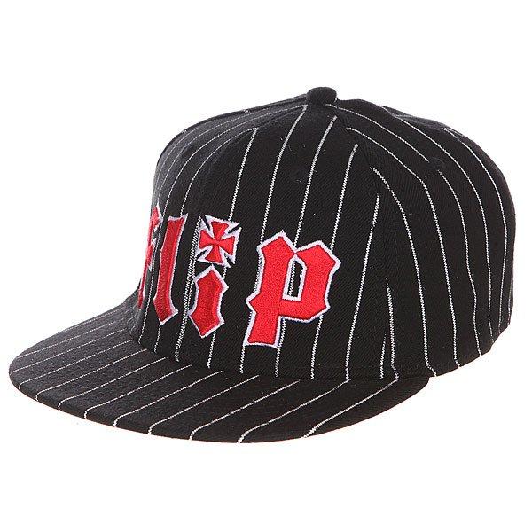 Бейсболка с прямым козырьком Flip Pinstriped Stretch Black<br><br>Цвет: черный<br>Тип: Бейсболка с прямым козырьком<br>Возраст: Взрослый