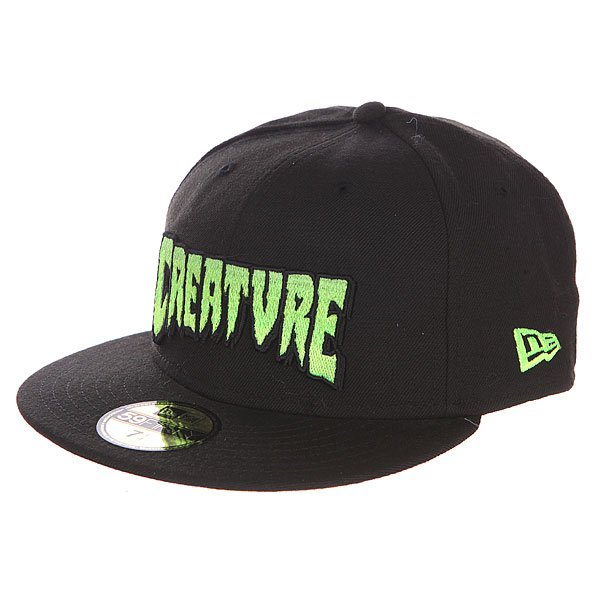 Бейсболка с прямым козырьком Creature Logo Fade New Era Black<br><br>Цвет: черный<br>Тип: Бейсболка с прямым козырьком<br>Возраст: Взрослый