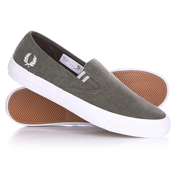 Слипоны Fred Perry Turner Pigment Slip On Dyed Canvas Forest Night