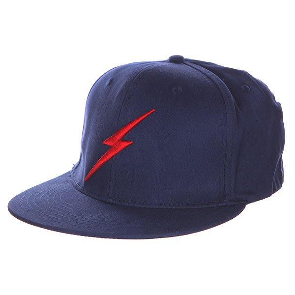 Бейсболка с прямым козырьком Lightning Bolt Bold Ii Insignia Blue<br><br>Цвет: синий<br>Тип: Бейсболка с прямым козырьком<br>Возраст: Взрослый<br>Пол: Мужской