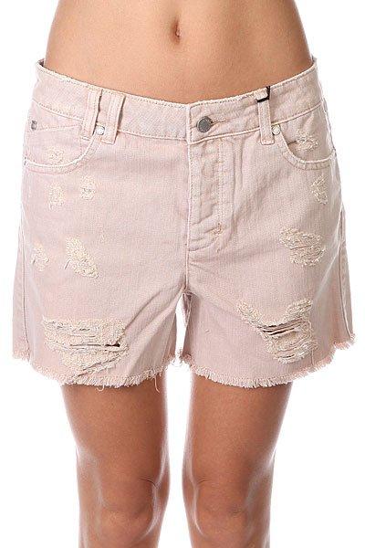 Шорты джинсовые женские Insight Baby Blush Beige<br><br>Цвет: бежевый<br>Тип: Шорты джинсовые<br>Возраст: Взрослый<br>Пол: Женский