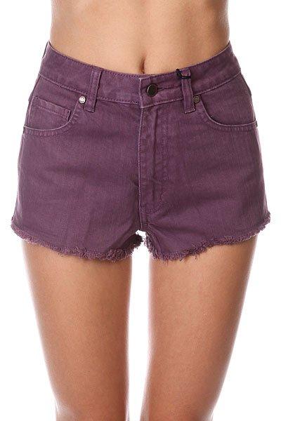 Шорты джинсовые женские Insight Plum Berry Purple<br><br>Цвет: фиолетовый<br>Тип: Шорты джинсовые<br>Возраст: Взрослый<br>Пол: Женский