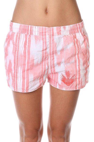 Шорты классические женские Insight Dunes Shorts Coral<br><br>Цвет: белый,розовый<br>Тип: Шорты классические<br>Возраст: Взрослый<br>Пол: Женский