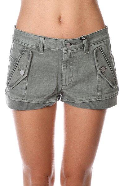 Шорты джинсовые женские Insight Dusty Sage<br><br>Цвет: серый<br>Тип: Шорты джинсовые<br>Возраст: Взрослый<br>Пол: Женский