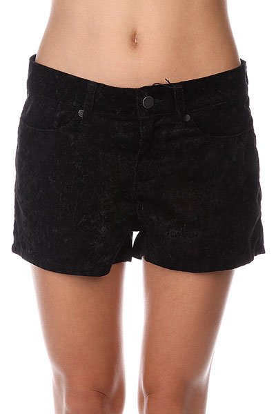 Шорты классические женские Insight Floral Velvet Shorts Black<br><br>Цвет: черный<br>Тип: Шорты классические<br>Возраст: Взрослый<br>Пол: Женский