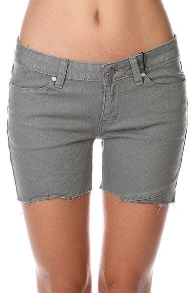 Шорты джинсовые женские Insight Jean Dusty Sage<br><br>Цвет: зеленый<br>Тип: Шорты джинсовые<br>Возраст: Взрослый<br>Пол: Женский