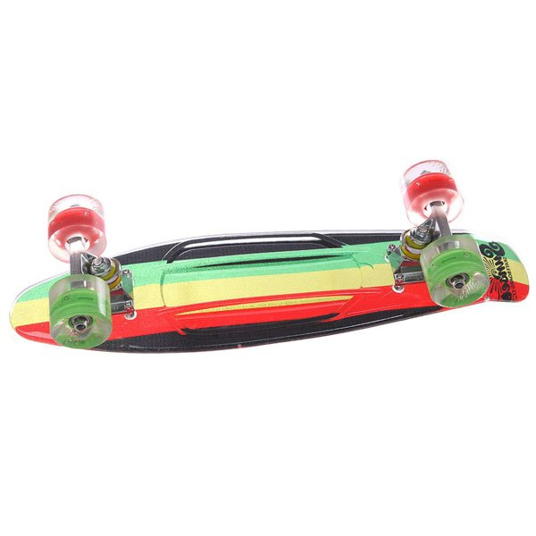 Скейт мини круизер Sunset Rasta Grip Complete Rasta Stripe Deck R/Y/G Red/Green Wheels 6 x 22 (56 см) скейт мини круизер penny original 22 ltd shadow jungle 6 x 22 55 9 см