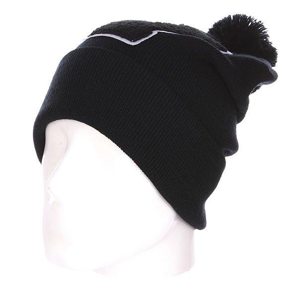 Шапка с помпоном TrueSpin Abc Pompom Beanie V Black<br><br>Цвет: черный<br>Тип: Шапка<br>Возраст: Взрослый