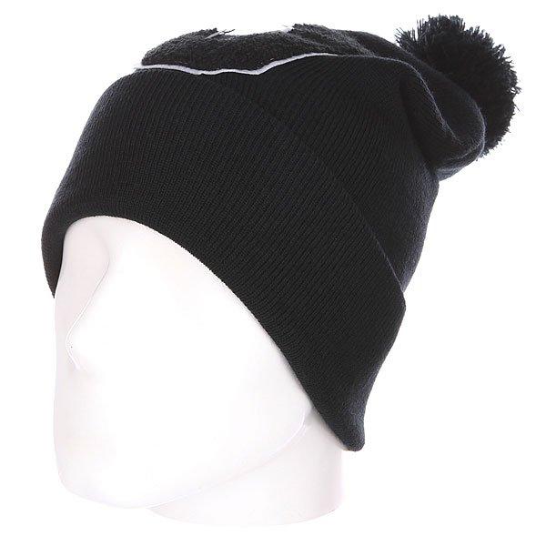 Шапка с помпоном TrueSpin Abc Pompom Beanie J Black<br><br>Цвет: черный<br>Тип: Шапка носок<br>Возраст: Взрослый
