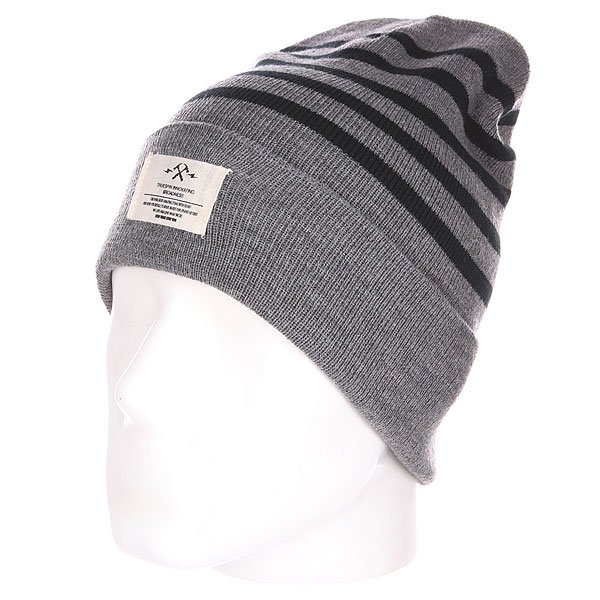 Шапка TrueSpin Hammer Beanie Grey/Black<br><br>Цвет: черный,серый<br>Тип: Шапка<br>Возраст: Взрослый<br>Пол: Мужской