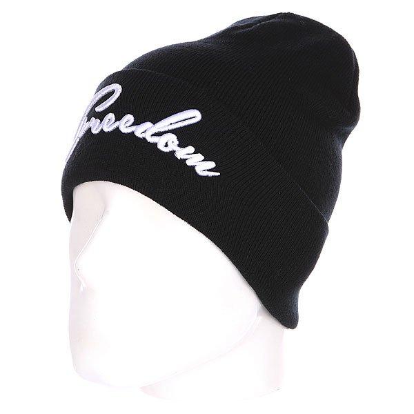 Шапка TrueSpin Freedom Classic Beanie Black<br><br>Цвет: черный,белый<br>Тип: Шапка<br>Возраст: Взрослый<br>Пол: Мужской