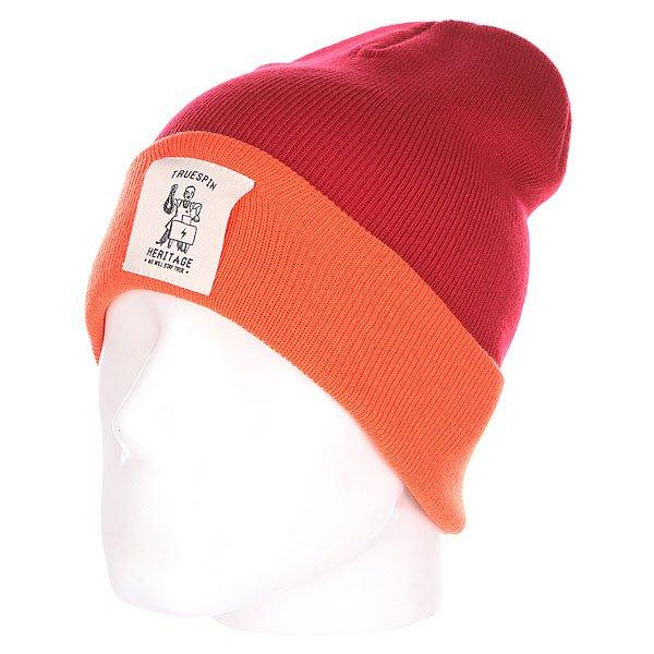 Шапка TrueSpin Heritage Classic Beanie Red/Orange<br><br>Цвет: бордовый,оранжевый<br>Тип: Шапка<br>Возраст: Взрослый<br>Пол: Мужской