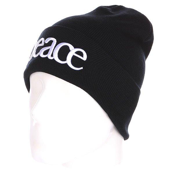 Шапка TrueSpin Peace Beanie Black<br><br>Цвет: черный,белый<br>Тип: Шапка<br>Возраст: Взрослый