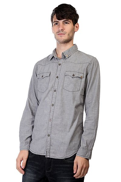 Рубашка Insight Shirt Heather Grey рубашка женская insight napier shirt 70 s mid blue