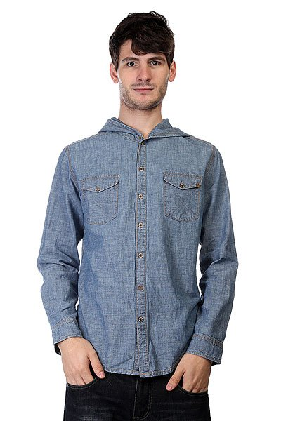 Рубашка Insight Bayou Born Hood Bleach Blue<br><br>Цвет: синий<br>Тип: Рубашка<br>Возраст: Взрослый<br>Пол: Мужской