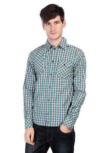 Рубашка в клетку Dickies Warrenton Ls Emerald<br><br>Цвет: синий,зеленый<br>Тип: Рубашка в клетку<br>Возраст: Взрослый<br>Пол: Мужской