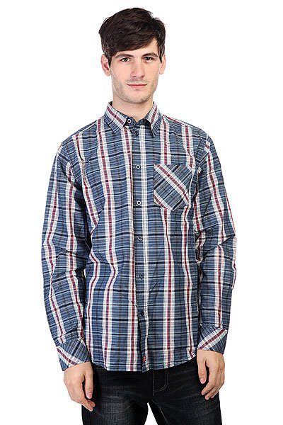Рубашка в клетку Dickies Elberton Shirt Navy Blue