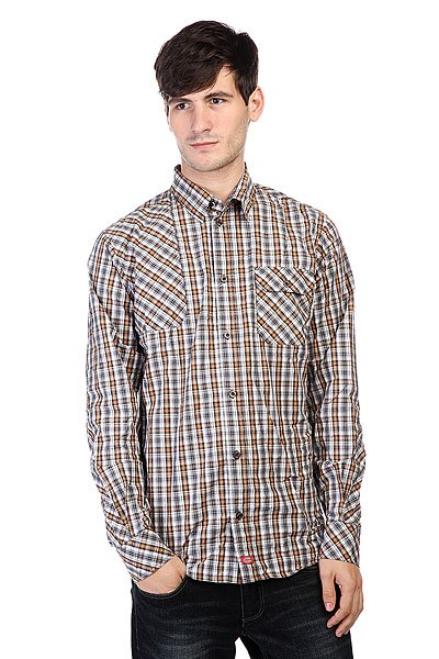 Рубашка в клетку Dickies Warrenton Ls Shirt Brown Duck