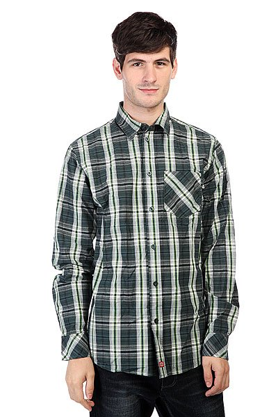 Рубашка в клетку Dickies Elberton Shirt Hunter Green