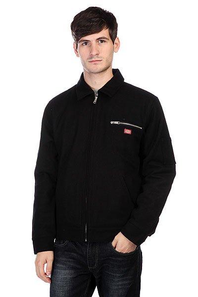 Куртка Dickies Kieran Jacket BlackПрактичная мужская куртка в классическом стиле. Прямую укороченную куртку можно сочетать как с брюками, так и с джинсами, благодаря чему ее можно смело носить на работу или на прогулку.Технические характеристики: Стеганая подкладка.Отложной воротник.Манжеты и подол с регулировкой на пуговицах.Два боковых кармана для рук.Нагрудный карман на молнии.Потайной карман.Застежка на металлической молнии.Нашивка с логотипом Dickies на груди.<br><br>Цвет: черный<br>Тип: Куртка<br>Возраст: Взрослый<br>Пол: Мужской