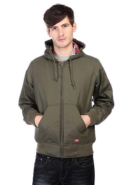 Куртка Dickies Daytona Duck Dark Olive<br><br>Цвет: зеленый<br>Тип: Куртка<br>Возраст: Взрослый<br>Пол: Мужской