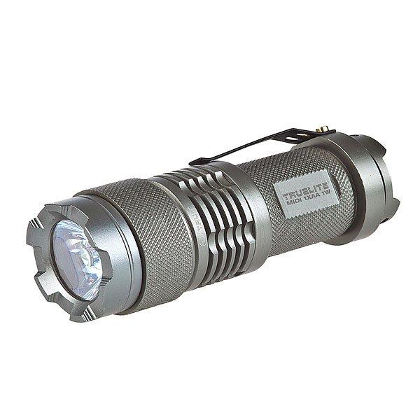 Фонарь True Utility Truelite Midi 1w Tu101 GreyНовый высокопроизводительный светодиодный луч с режимом энергосбережения. Инновационная линза была разработана специально для установки на источник света от светодиода. Фонари линейки TrueLite® отличаются мощным светодиодным лучом, отражателем высокой чистоты и управлением питания для регулировки яркости.В фонариках этой линейки используются аккумуляторные батареи с повышенным ресурсом. Фонари этого модельного ряда разработаны для профессионального и бытового использования. Они будут служить своему владельцу верой и правдой долгие годы. Технические характеристики: ЯРКОСТЬ: 70лм+.МАКС.МОЩНОСТЬ: 1Вт. ВХОД: Кремниевый кристалл 700МА. ВРЕМЯ РАБОТЫ: 100% = 2,5ч; 30%=6,3ч. АККУМУЛЯТОРЫ: 1 x AA. РАЗМЕР: Д=9,7см ?=2,8см. МАТЕРИАЛ: анодированный авиационный алюминий. Включение/выключение посредством поворота корпуса, высококачественные неопреновые уплотнительные кольца по всему корпусу для обеспечения водонепроницаемости, защитное приспособление для линзы.<br><br>Цвет: серый<br>Тип: Разное