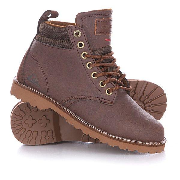 Ботинки детские Quiksilver Mission Boot Youth BrownМодные осенние ботинки Quiksilver Mission – в них ты почувствуешь себя на высоте. Характеристики: Верх из искусственной кожи. Внутренняя текстильная отделка.  Мягкая внутренняя стелька. Тонкие стенки и язычок.  Круглая шнуровка с тонированными металлическими люверсами.  Цельнокроеный носок.  Смягченный воротник «валиками». Гибкая прошитая резиновая подошва с абразивным рисунком. Декоративная строчка по поверхности ботинка.Модные осенние ботинки Quiksilver Mission – в них ты почувствуешь себя на высоте.Характеристики:Верх из искусственной кожи и замши. Внутренняя текстильная отделка.  Мягкая внутренняя стелька. Тонкие стенки и язычок.  Круглая шнуровка с тонированными металлическими люверсами.  Цельнокроеный носок.  Смягченный воротник «валиками». Гибкая прошитая резиновая подошва с абразивным рисунком. Декоративная строчка по поверхности ботинка.<br><br>Цвет: коричневый<br>Тип: Ботинки высокие<br>Возраст: Детский