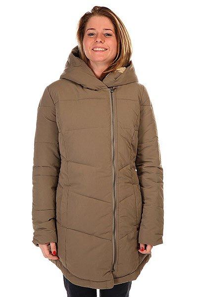 Куртка зимняя женская Roxy Night Out WalnutЖенская куртка Night Out от ROXY.Характеристики:Фиксированный капюшон с внутренней отделкой из искусственного меха.  Отделка яркой бейкой спереди. Съемная внутренняя подкладка. Застежка на молнию. Два боковых кармана для рук.  Фасон: стандартный (regular fit).<br><br>Цвет: серый<br>Тип: Куртка зимняя<br>Возраст: Взрослый<br>Пол: Женский