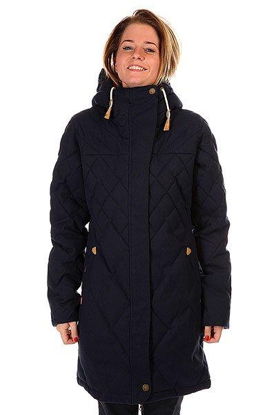 Пальто женское Roxy Lily PeacoatИз гор прямиком на городскую прогулку – пальто Roxy Lily – универсальная теплая вещь практически для любых погодных условий. Характеристики:Верх из стеганого полиэстера. Внутренняя подкладка из полиэстера.  Утеплитель – Thinsulate Featherless 350 гр (180 гр  тело, 130 гр рукава).  Застежка-кнопки. Накладные карманы для рук.  Фиксированный капюшон с внутренней отделкой из искусственного меха. Фасон: стандартный (regular fit).<br><br>Цвет: синий<br>Тип: Пальто<br>Возраст: Взрослый<br>Пол: Женский
