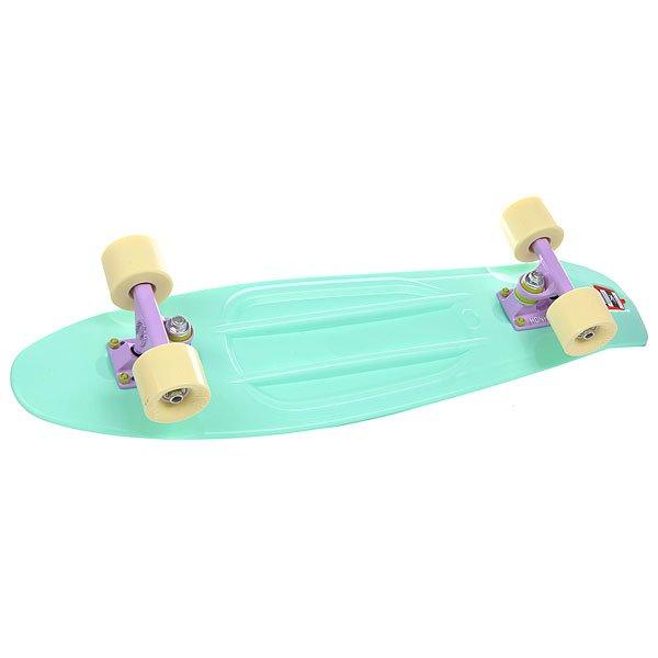 Скейт мини круизер Пластборд Mint 7.5 x 28 (71 см)Пластборд Юнион(Union) - это пластиковый скейтборд-круизер с загнутым хвостом для передвижения по городу и трюкачества. Очень прочная дека, качественные подвески, подшипники и колеса сделают вашу езду плавной и комфортной. Технические характеристики: Дека из прочного полиуретана повышенной прочности и эластичности. Подвески изалюминия. Бушинги Union 89А. Подшипники -Union Water Prof Abec7 (водонепроницаемаяконструкция). Колеса - круизного типа Union Virage диаметром 59 мм с стандартной мягкостью 83А. Нестирающееся цепкое покрытие. Различные расцветки в ассортименте.<br><br>Цвет: зеленый<br>Тип: Скейт мини круизер