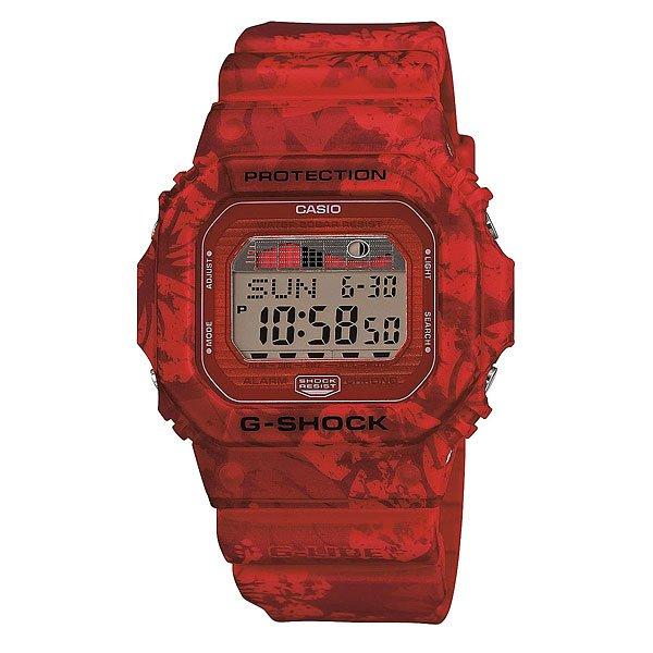 Часы Casio G-Shock Glx-5600f-4e RedЕсли Вы часто путешествуете, много времени проводите в походах на природе, тогда Вам нужны часы с соответствующим функционалом. Предлагаем вам обратить внимание на стильную модель Casio G-Shock GLX-5600.Эти часы выполнены в классическом дизайне, корпус из пластика синего цвета. Благодаря эргономичным размерам модель получилась довольно легкой, что немаловажно в походах. Присутствует важная для активных людей функция отображения фаз луны, а также многое другое.Характеристики: Автоматическая электролюминесцентная подсветка всего циферблата, активируется при повороте часов. Функция послесвечения – подсветка работает ещё несколько секунд после нажатия кнопки.Светодиодная индикация при сигнале будильника, окончании отсчёта таймера или секундомера.Функция мирового времени.Два формата отображения времени: 12-часовой и 24-часовой.Секундомер с точностью измерения 1/100 сек., длительностью до 24 часов.3 многофункциональных будильника – датированный, ежедневный, ежемесячный. Стандартный будильник с функцией автоповтора. Включение/выключение звука кнопок.  Таймер обратного отсчёта, до 24 часов. Опция автоповтора.Автоматический календарь. Сигнал для оповещении об окончании каждого часа.Прочное, устойчивое к царапинам минеральное стекло защищает часы от повреждений.Корпус из полимерного пластика и нержавеющей стали. Ремешок из полимерного материала. Водонепроницаемость (20 Бар/200 м). 7 лет работы от батарейки типа CR2025.<br><br>Цвет: красный<br>Тип: Электронные часы<br>Возраст: Взрослый<br>Пол: Мужской