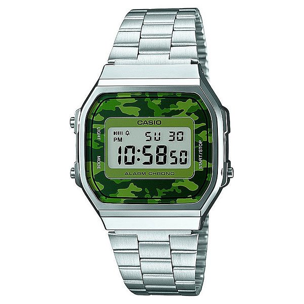 Часы Casio Collection A-168wec-3e Grey/Green