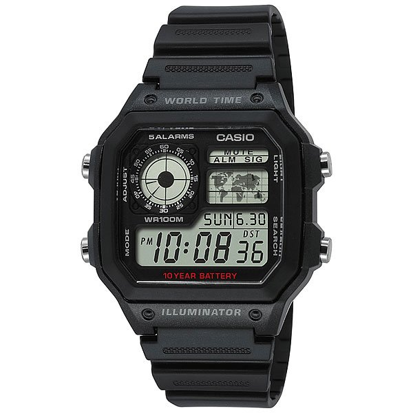Часы Casio Collection Ae-1200wh-1a Black часы casio collection ae 1000wd 1a grey
