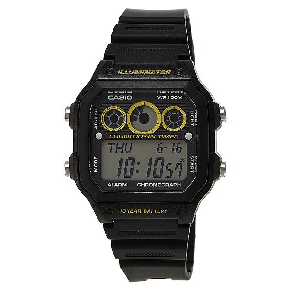 Часы Casio Collection Ae-1300wh-1a Black часы casio collection ae 1000wd 1a grey