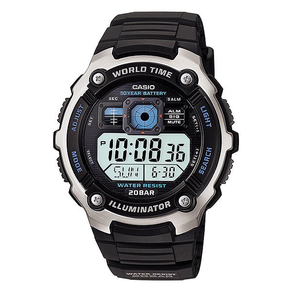 Часы Casio Collection Ae-2000w-1a Black/Grey часы casio collection ae 1000wd 1a grey