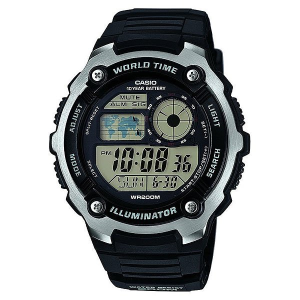 Часы Casio Collection Ae-2100w-1a Black/Grey часы casio collection ae 1000wd 1a grey