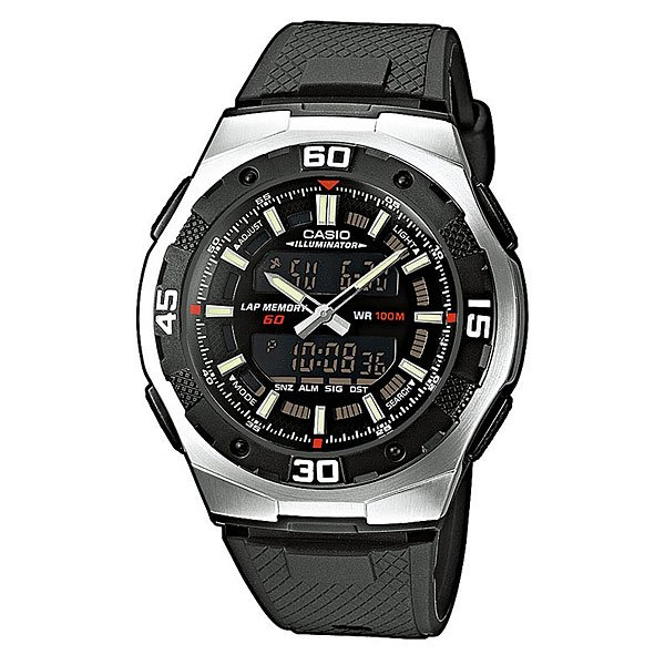 Часы Casio Collection Aq-164w-1a Black/Grey