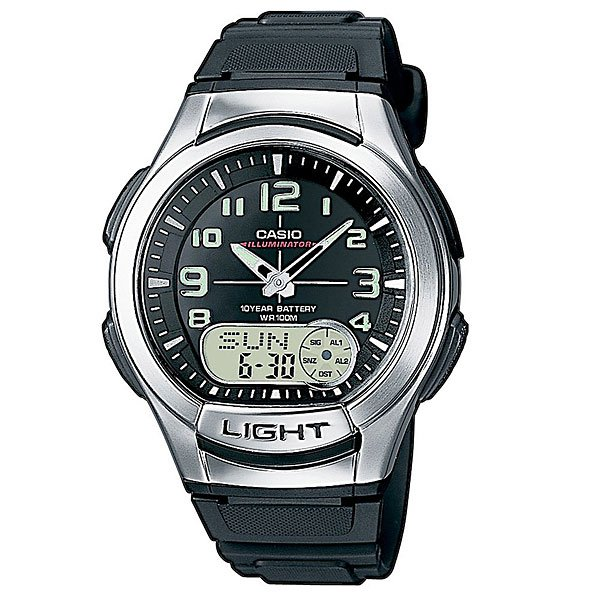 Часы Casio Collection Aq-180w-1b Black/Grey
