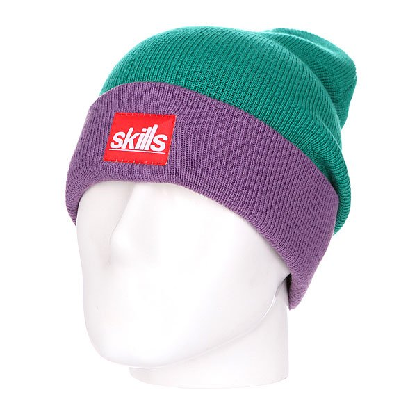 ����� ����� Skills New Sport Beanie Light Green/Purple