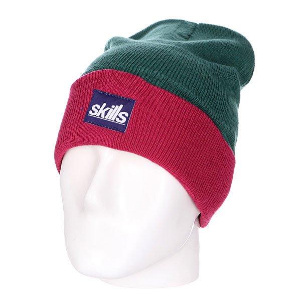 Шапка носок Skills New Sport Beanie Green MaroonШапка Skills New Sport Beanie – это комфорт и тепло для вашей головы.Характеристики:Изготовлена из 100% акрила. Широкий отворот. Вышитый логотип на лицевой части.<br><br>Цвет: зеленый,розовый<br>Тип: Шапка носок<br>Возраст: Взрослый
